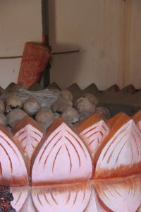 Stupas erected to honor the dead from the nearby Khmer Killing Field.