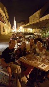 Dinner, Budapest, Hungray