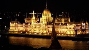 Parliament as seen from Pest, Budapest Hungry