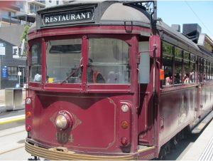 The Colonial Tramcar Restaurant - a traveling restaurant