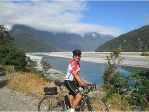 Biking up the Kakapotahi River Valley