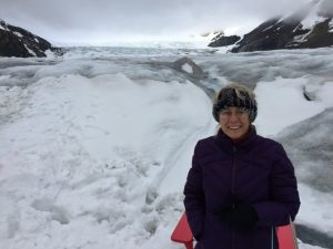 Julie on the Athabasca Glacier