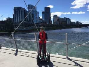 Julie Touring on a Segway