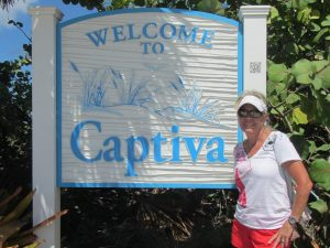 Julie at the connection between Sanibel Island onto Captiva Island