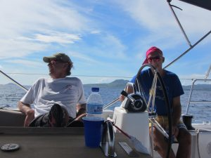 Friends sailing - Rocky & Peter
