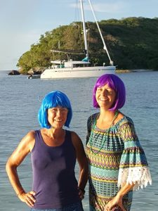 Our colorful women aboard...