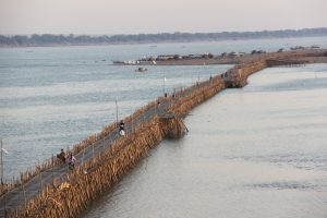World's longest bamboo bridge.  Only allows cyclocabs. motorcycles, bicycles and pedestrians!