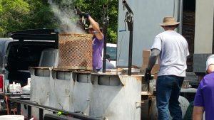 One steaming pot of crawfish!