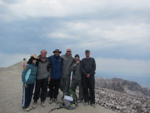 SUCCESS – AT THE SUMMIT!           (from left to right) Pam, Rocky, Angel, Peter, Nikki, and Scott.