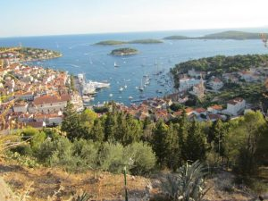 Hvar from the top of the Fortress