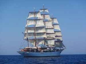 """Sea Cloud"" - Square rigger sailing ship"
