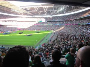 Wembley Stadium Open Ceremony of Ireland vs Romania