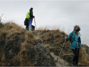 Climbing Te Mata Peak in the wind, rain and cold.