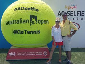 Rocky & Julie at the Australian Open Tournament