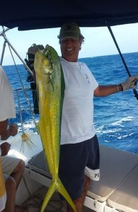 The first Mahi Mahi - the catch of the trip!