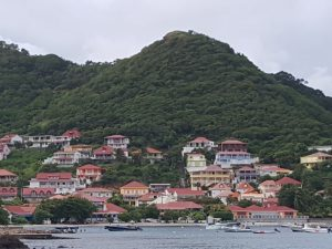 French Village on Isle de Saintes of Guadeloupe.