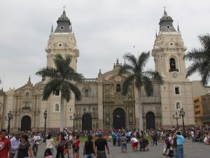 Bishop's Palace in the main square of Lima