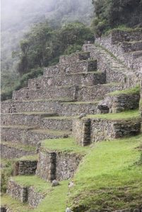 The start of the Inca Trail to the Sun Gate