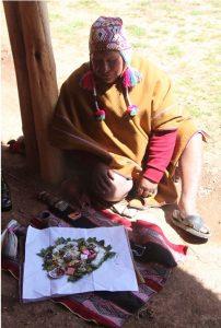 Andean medicine man performing healing