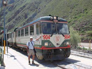 Train from Ollantaytambo to Aguas Calientes.