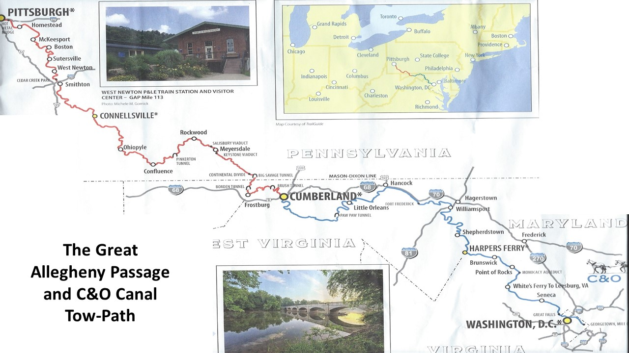 C O Towpath Map on